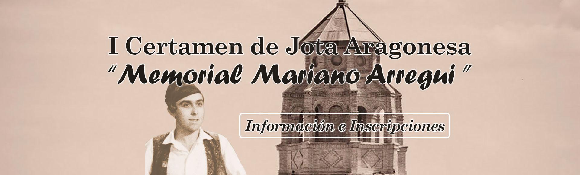 I Certamen de Jota Aragonesa Memorial Mariano Arregui